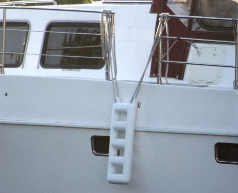 2 4 Step Available in Blue or White 3 Boat Fender Ladder